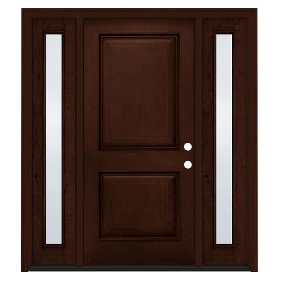 Jeld wen aurora left hand inswing antique caramel stained - Jeld wen exterior doors with sidelights ...