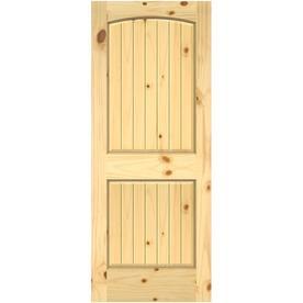 Jeld Wen 0028v Unfinished 2 Panel Round Top Plank Wood Slab Door Common