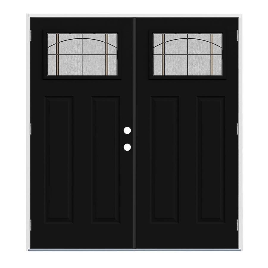 Jeld wen craftsman decorative glass right hand outswing - Right hand outswing exterior door ...