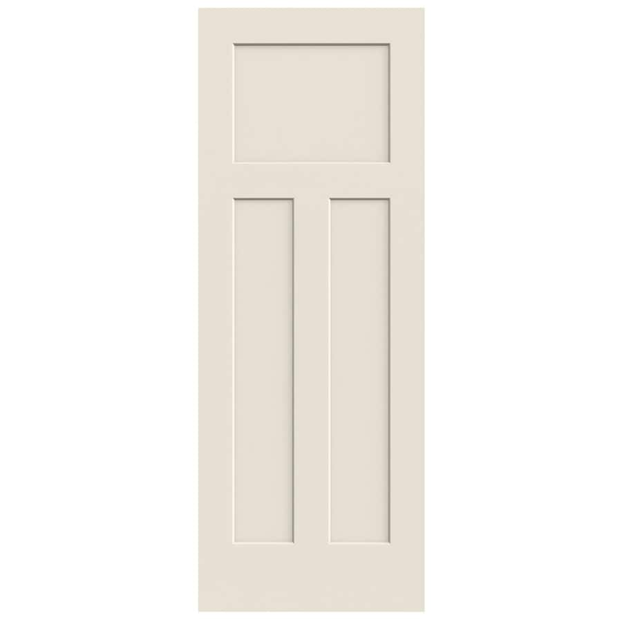 Jeld Wen Craftsman Primed 3 Panel Solid Core Molded Composite Slab Door