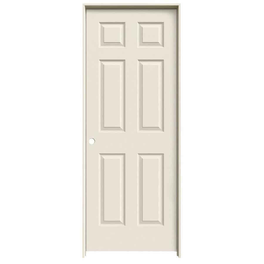 ReliaBilt 6-Panel Prehung Solid Core 6-Panel Interior Door (Common: 28-in x 80-in; Actual: 29.5-in x 81.5-in)