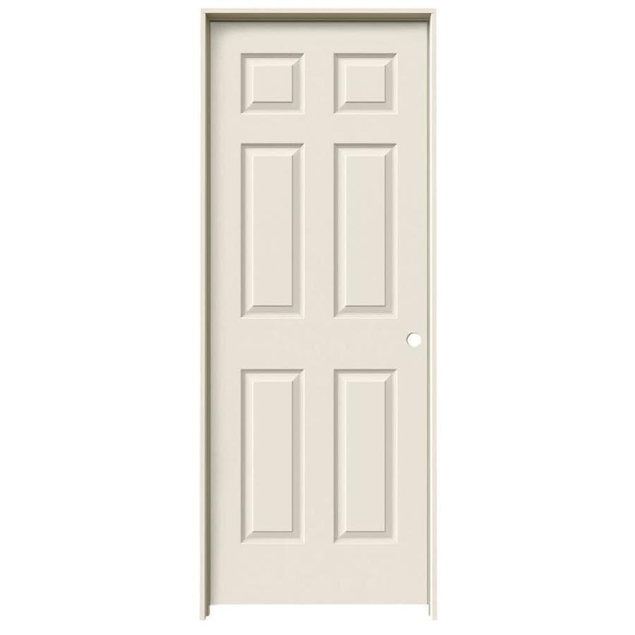 ReliaBilt 6-Panel Prehung Solid Core 6-Panel Interior Door (Common: 28-in x 80-in; Actual: 29.5-in x 81.5-in)