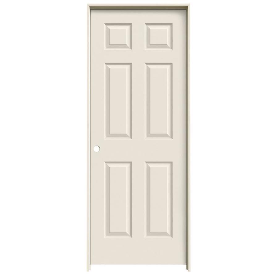 ReliaBilt Colonist Primed Solid Core Molded Composite Single Prehung Interior Door (Common: 32-in x 80-in; Actual: 33.5-in x 81.5-in)