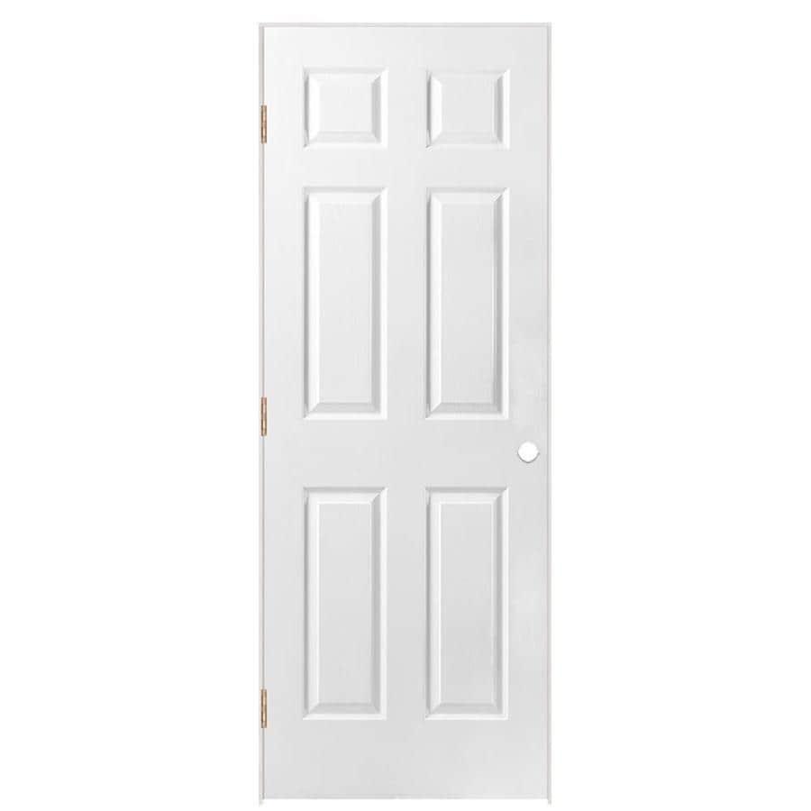 ReliaBilt 6-Panel Prehung Solid Core 6-Panel Interior Door (Common: 36-in x 80-in; Actual: 37.5-in x 81.5-in)
