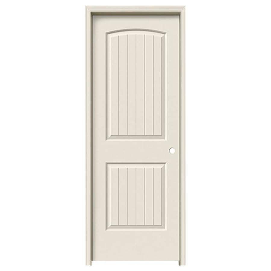 ReliaBilt 2-panel Round Top Plank Single Prehung Interior Door (Common: 24-in x 80-in; Actual: 25.5-in x 81.5-in)