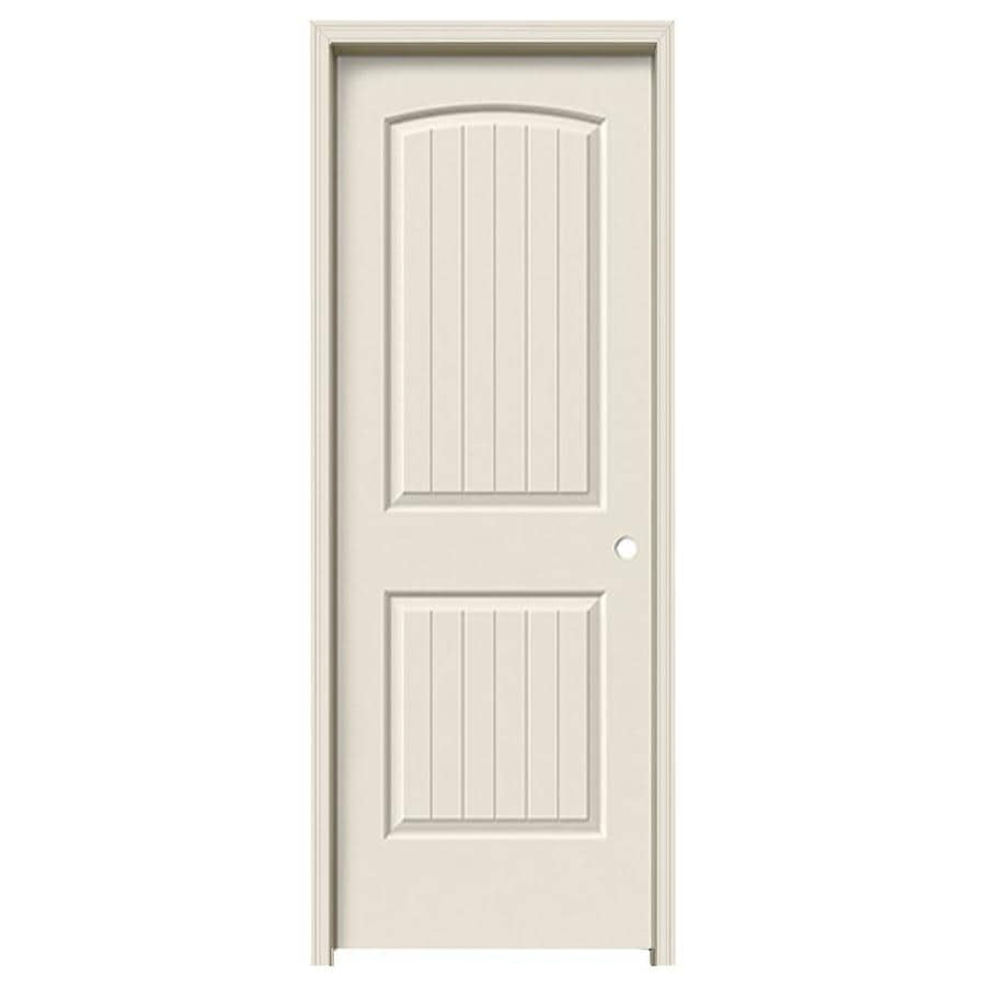 ReliaBilt Prehung Hollow Core 2-Panel Round Top Plank Interior Door (Common: 32-in x 80-in; Actual: 33.5000-in x 81.5000-in)