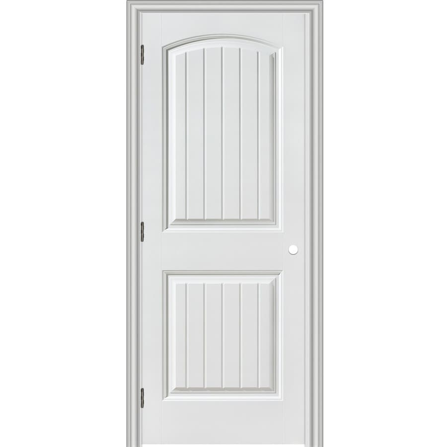 ReliaBilt Prehung Hollow Core 2-Panel Round Top Plank Interior Door (Common: 18-in x 80-in; Actual: 19.5-in x 81.5-in)