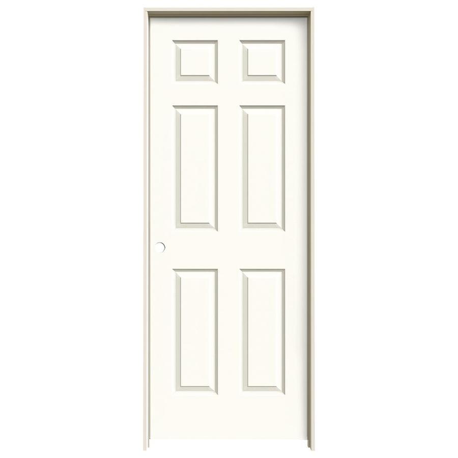JELD-WEN Colonist White 6-panel Single Prehung Interior Door (Common: 24-in x 80-in; Actual: 81.688-in x 25.562-in)