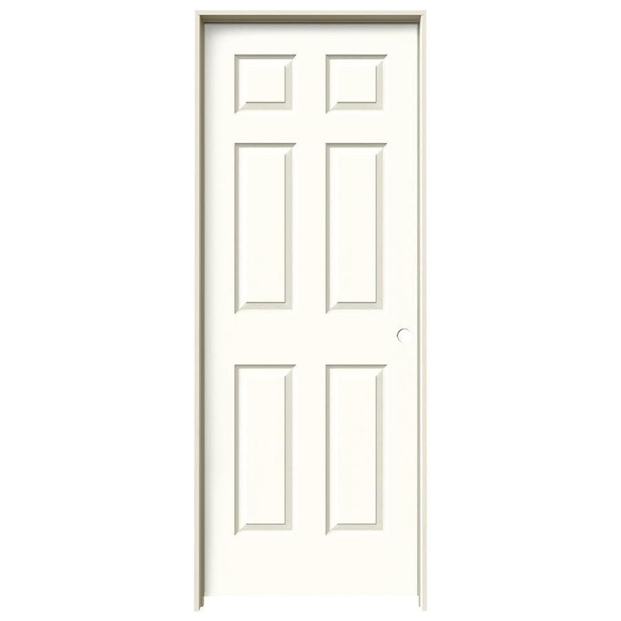 JELD-WEN Moonglow Prehung Solid Core 6-Panel Interior Door (Actual: 81.688-in x 29.562-in)