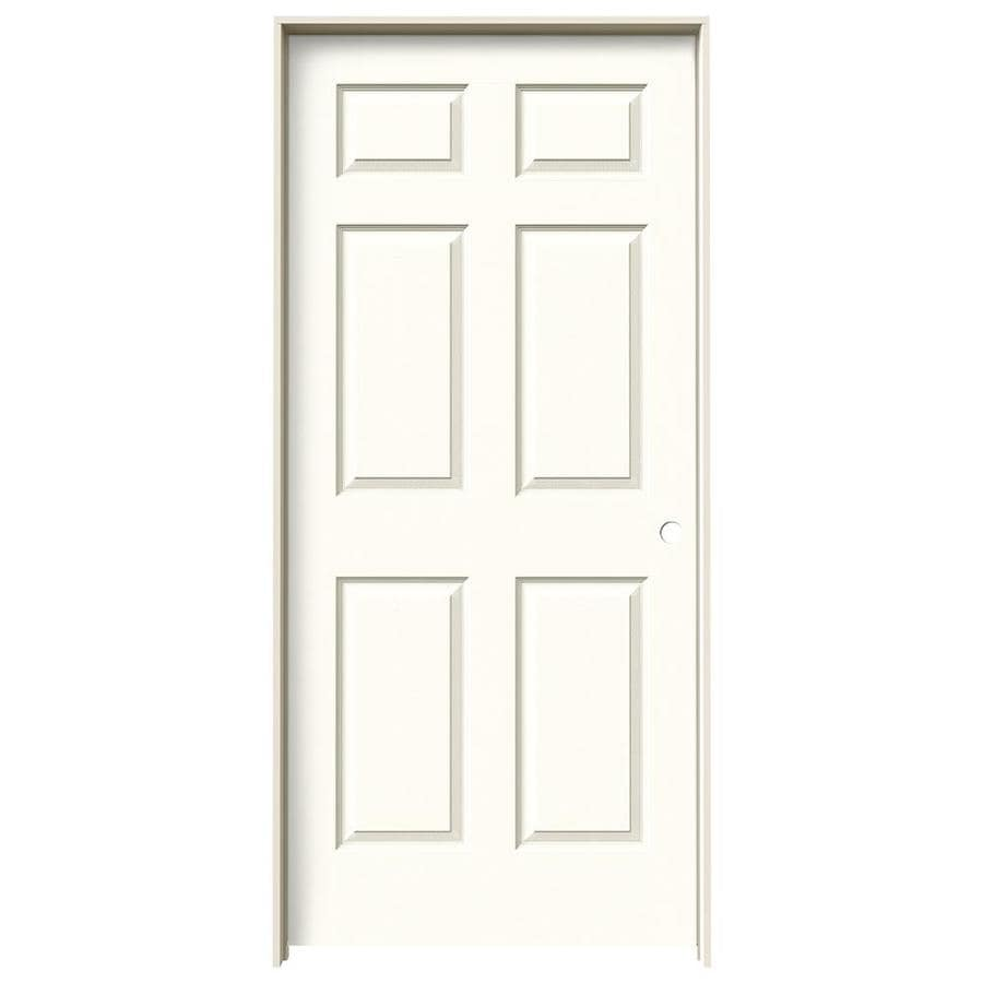JELD-WEN Moonglow Prehung Solid Core 6-Panel Interior Door (Actual: 81.688-in x 37.562-in)