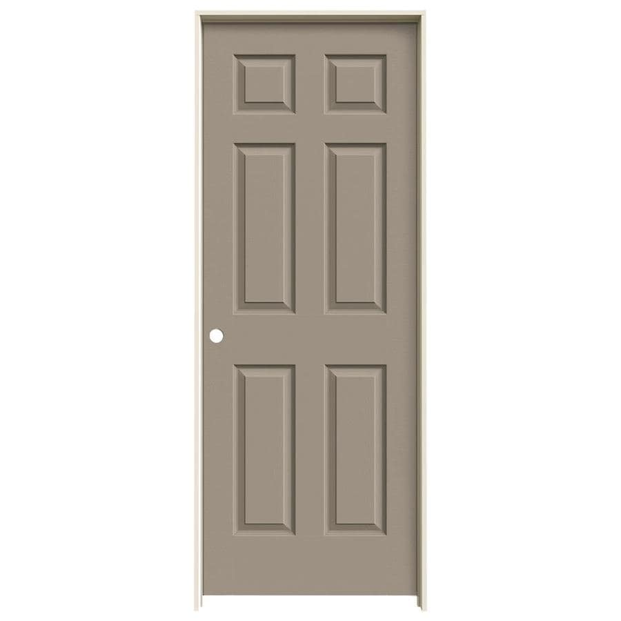 JELD-WEN Sand Piper Prehung Solid Core 6-Panel Interior Door (Actual: 81.688-in x 31.562-in)