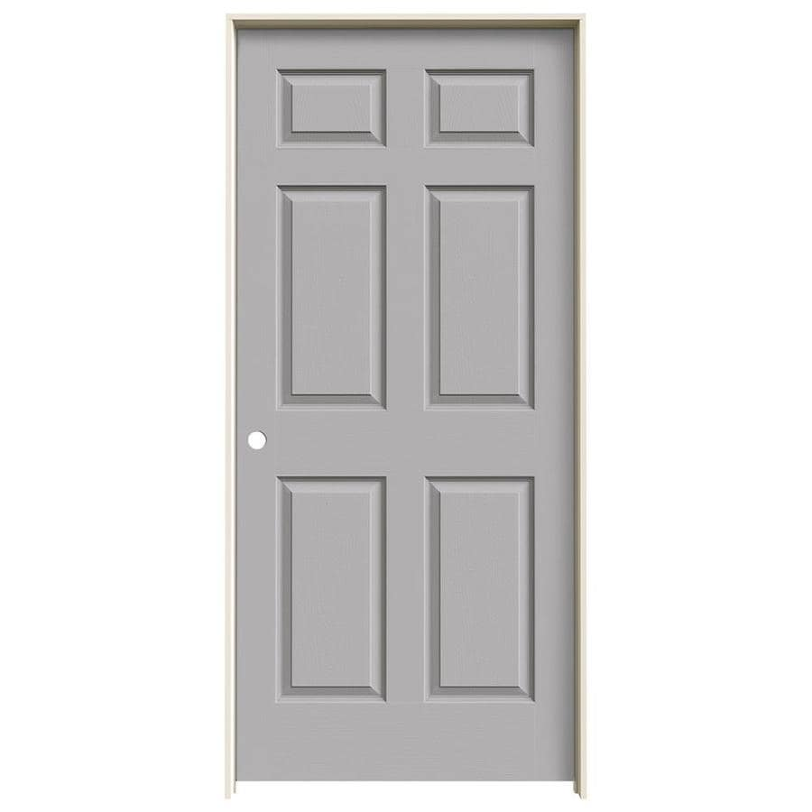 JELD-WEN Colonist Drift Solid Core Molded Composite Single Prehung Interior Door (Common: 36-in x 80-in; Actual: 81.6880-in x 37.5620-in)
