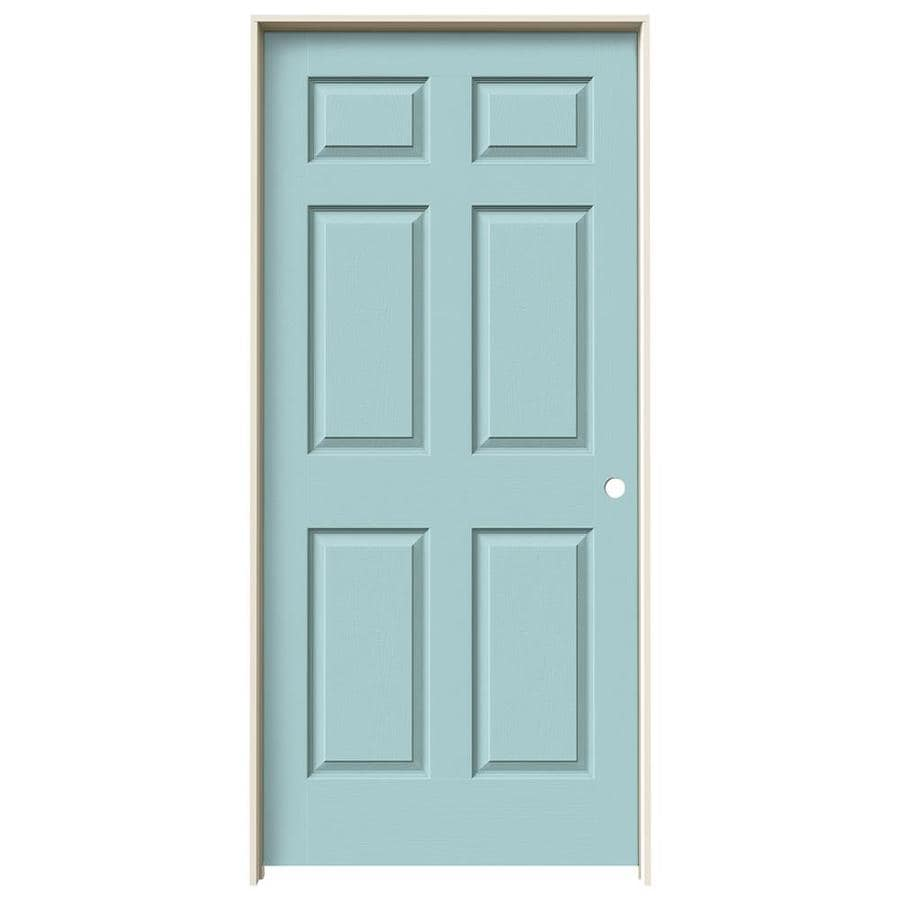JELD-WEN Colonist Sea Mist 6-panel Single Prehung Interior Door (Common: 36-in x 80-in; Actual: 81.688-in x 37.562-in)