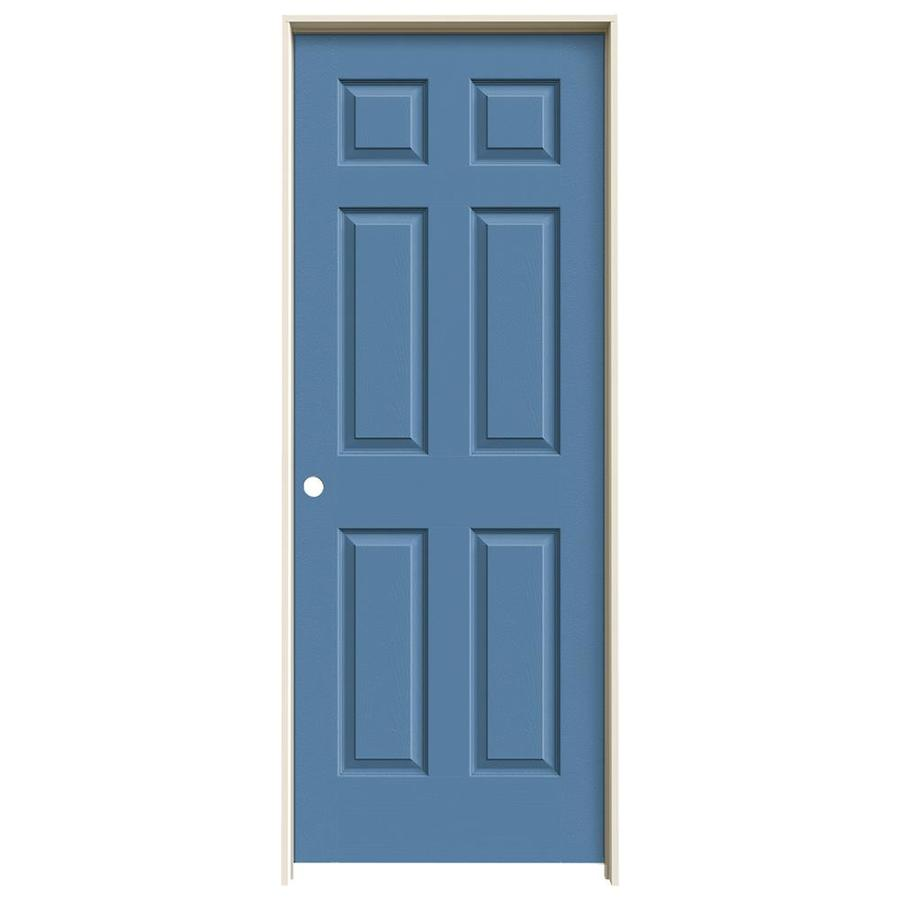 JELD-WEN Colonist Blue Heron 6-panel Single Prehung Interior Door (Common: 28-in x 80-in; Actual: 81.688-in x 29.562-in)