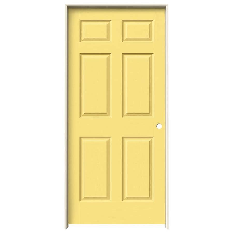 JELD-WEN Colonist Marigold Solid Core Molded Composite Single Prehung Interior Door (Common: 36-in x 80-in; Actual: 81.688-in x 37.562-in)