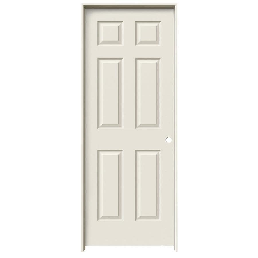 JELD-WEN Prehung Solid Core 6-Panel Interior Door (Common: 32-in x 80-in; Actual: 33.562-in x 81.688-in)