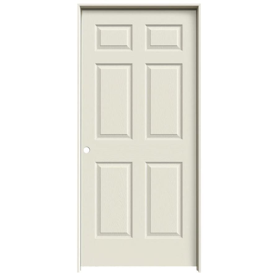 JELD-WEN Prehung Solid Core 6-Panel Interior Door (Common: 36-in x 80-in; Actual: 37.562-in x 81.688-in)