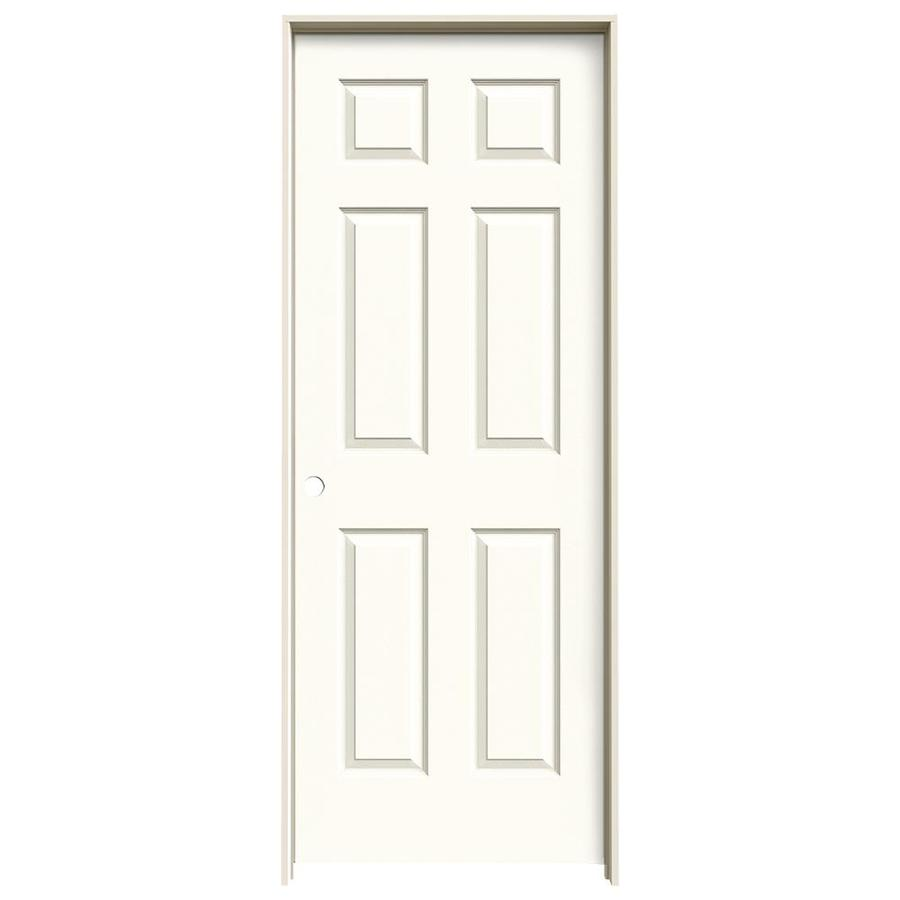JELD-WEN Colonist White 6-panel Single Prehung Interior Door (Common: 24-in x 80-in; Actual: 81.688-in x 25.562-in)