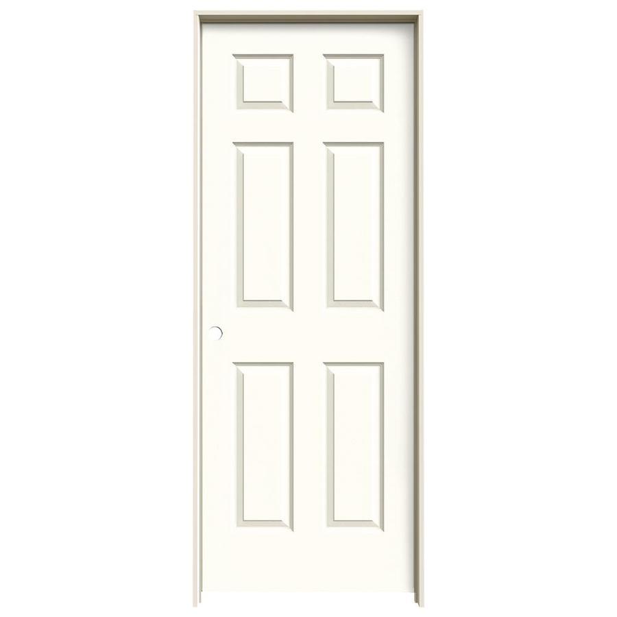 JELD-WEN Colonist Moonglow 6-panel Single Prehung Interior Door (Common: 24-in x 80-in; Actual: 81.688-in x 25.562-in)