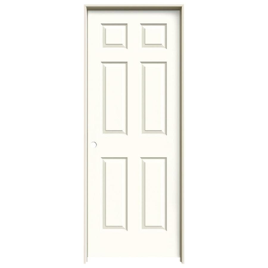 JELD-WEN Moonglow Prehung Hollow Core 6-Panel Interior Door (Actual: 81.688-in x 33.562-in)