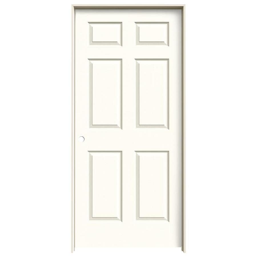 JELD-WEN Moonglow Prehung Hollow Core 6-Panel Interior Door (Actual: 81.688-in x 37.562-in)