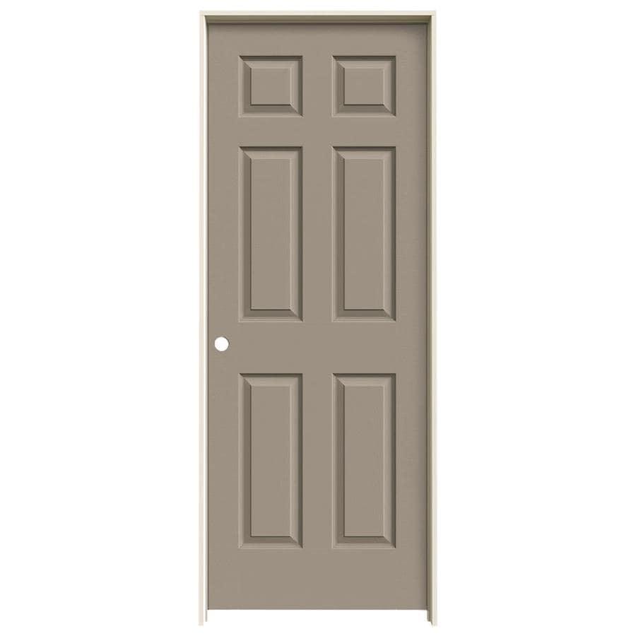 JELD-WEN Sand Piper Prehung Hollow Core 6-Panel Interior Door (Actual: 81.688-in x 29.562-in)