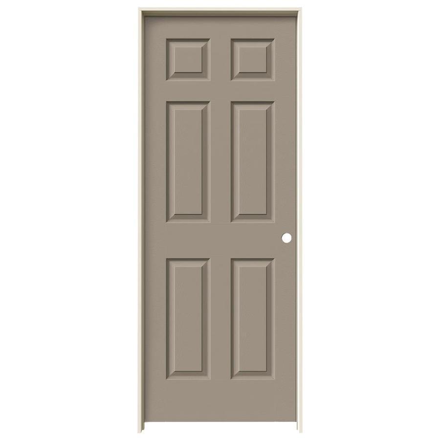 JELD-WEN Sand Piper Prehung Hollow Core 6-Panel Interior Door (Actual: 81.688-in x 33.562-in)