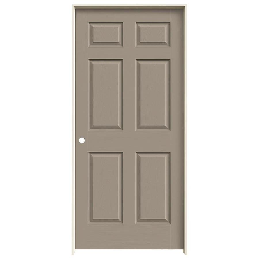 JELD-WEN Colonist Sand Piper 6-panel Single Prehung Interior Door (Common: 36-in x 80-in; Actual: 81.688-in x 37.562-in)