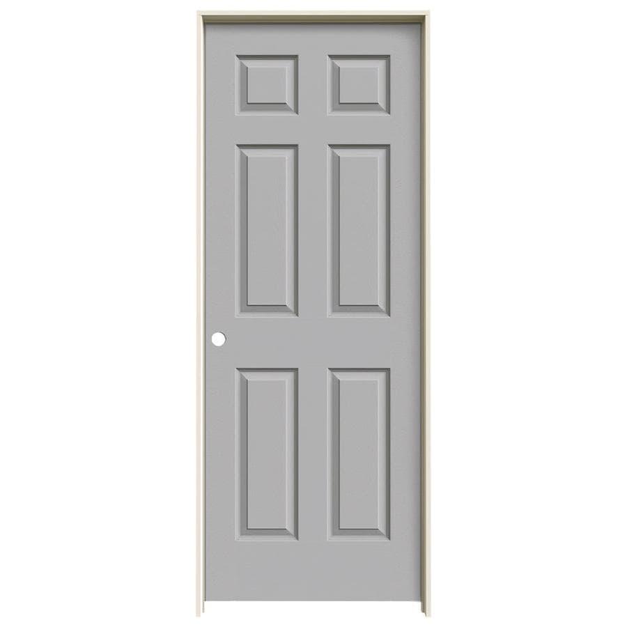 JELD-WEN Driftwood Prehung Hollow Core 6-Panel Interior Door (Actual: 81.688-in x 33.562-in)