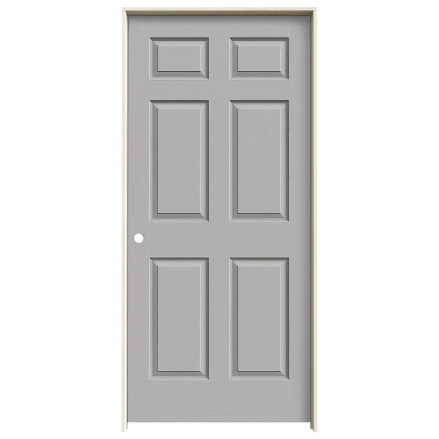 JELD-WEN Colonist Drift Hollow Core Molded Composite Single Prehung Interior Door (Common: 36-in x 80-in; Actual: 81.688-in x 37.562-in)