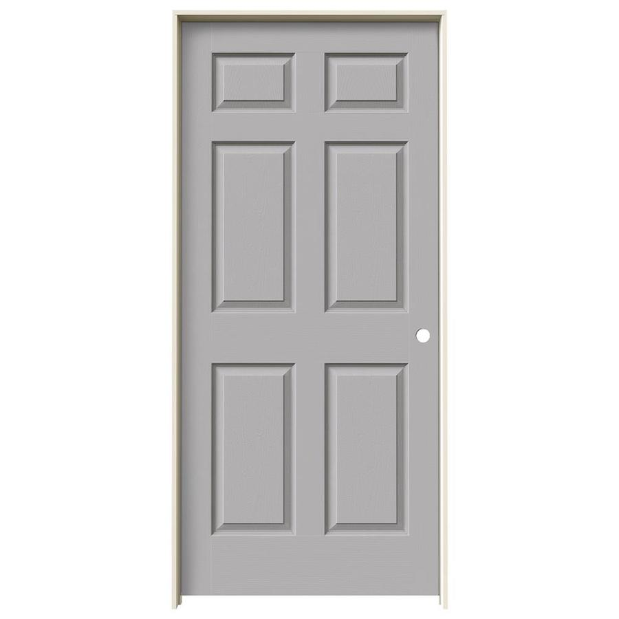 JELD-WEN Colonist Driftwood Single Prehung Interior Door (Common: 36-in x 80-in; Actual: 81.6880-in x 37.5620-in)