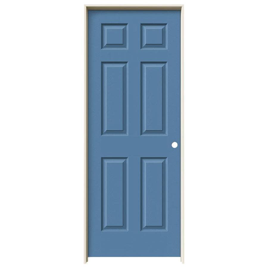 JELD-WEN Colonist Blue Heron Hollow Core Molded Composite Single Prehung Interior Door (Common: 32-in x 80-in; Actual: 81.688-in x 33.562-in)