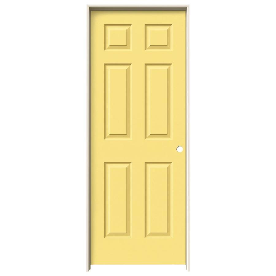 JELD-WEN Marigold Prehung Hollow Core 6-Panel Interior Door (Actual: 81.688-in x 33.562-in)