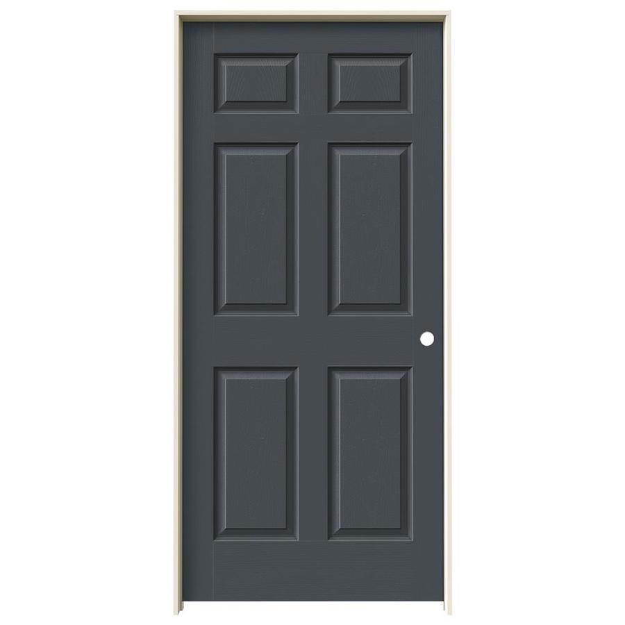JELD-WEN Slate Prehung Hollow Core 6-Panel Interior Door (Actual: 81.688-in x 37.562-in)