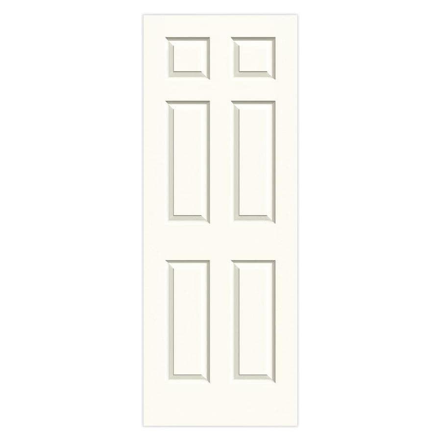 JELD-WEN White Solid Core 6-Panel Slab Interior Door (Common: 24-in x 80-in; Actual: 24-in x 80-in)