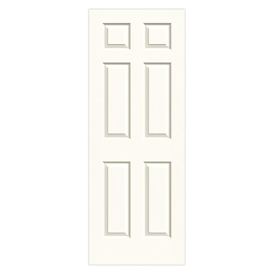 JELD-WEN White Solid Core 6-Panel Slab Interior Door (Common: 32-in x 80-in; Actual: 32-in x 80-in)