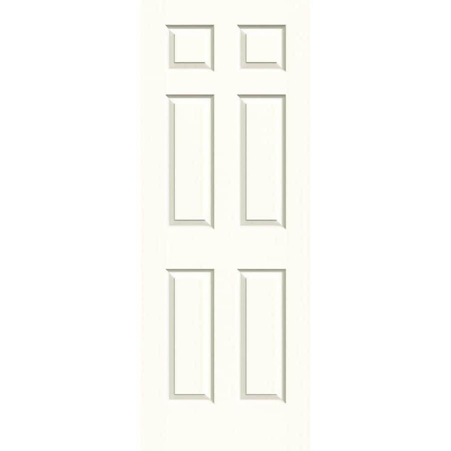 JELD-WEN Moonglow Solid Core 6-Panel Slab Interior Door (Common: 28-in x 80-in; Actual: 28-in x 80-in)