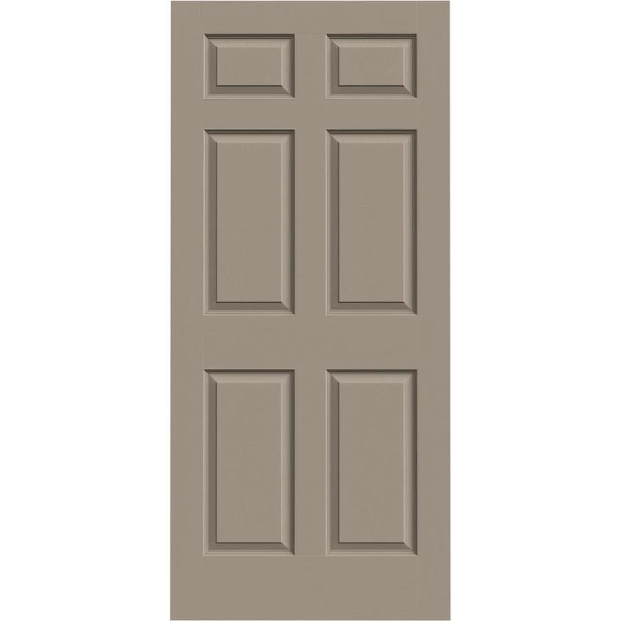 JELD-WEN Sand Piper Solid Core 6-Panel Slab Interior Door (Common: 36-in x 80-in; Actual: 36-in x 80-in)