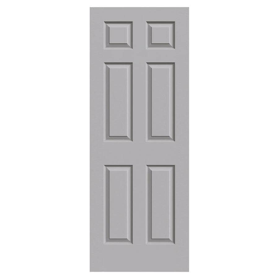JELD-WEN Driftwood Solid Core 6-Panel Slab Interior Door (Common: 28-in x 80-in; Actual: 28-in x 80-in)