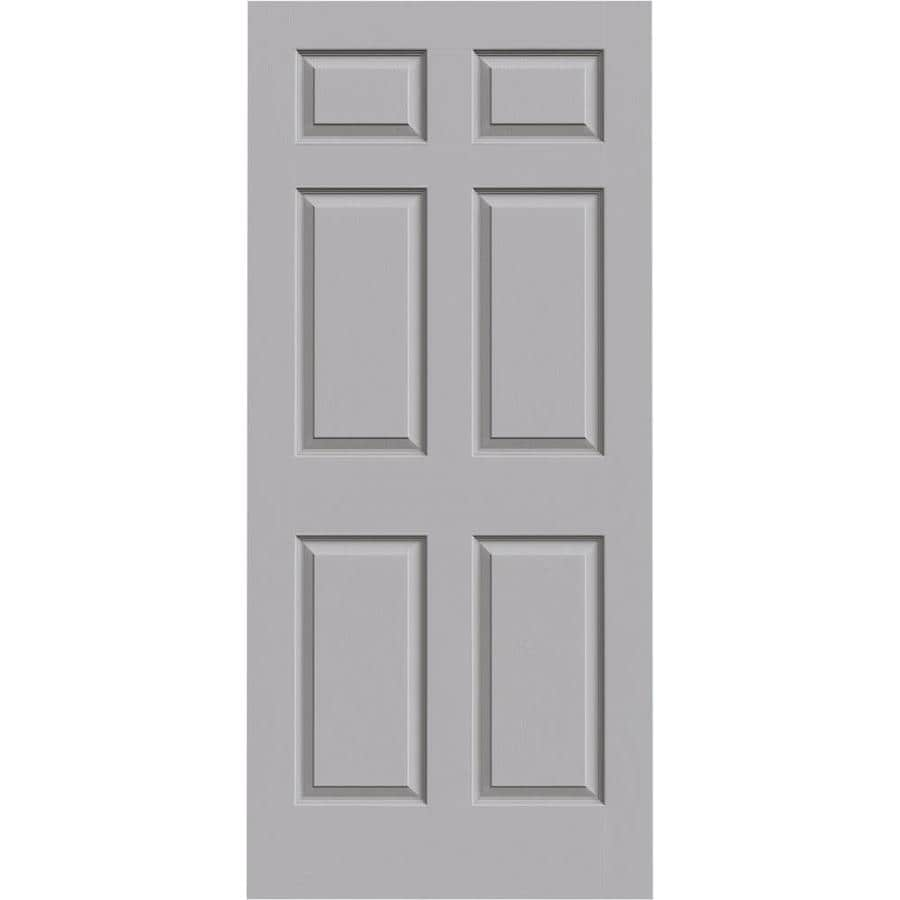 JELD-WEN Driftwood Solid Core 6-Panel Slab Interior Door (Common: 36-in x 80-in; Actual: 36-in x 80-in)