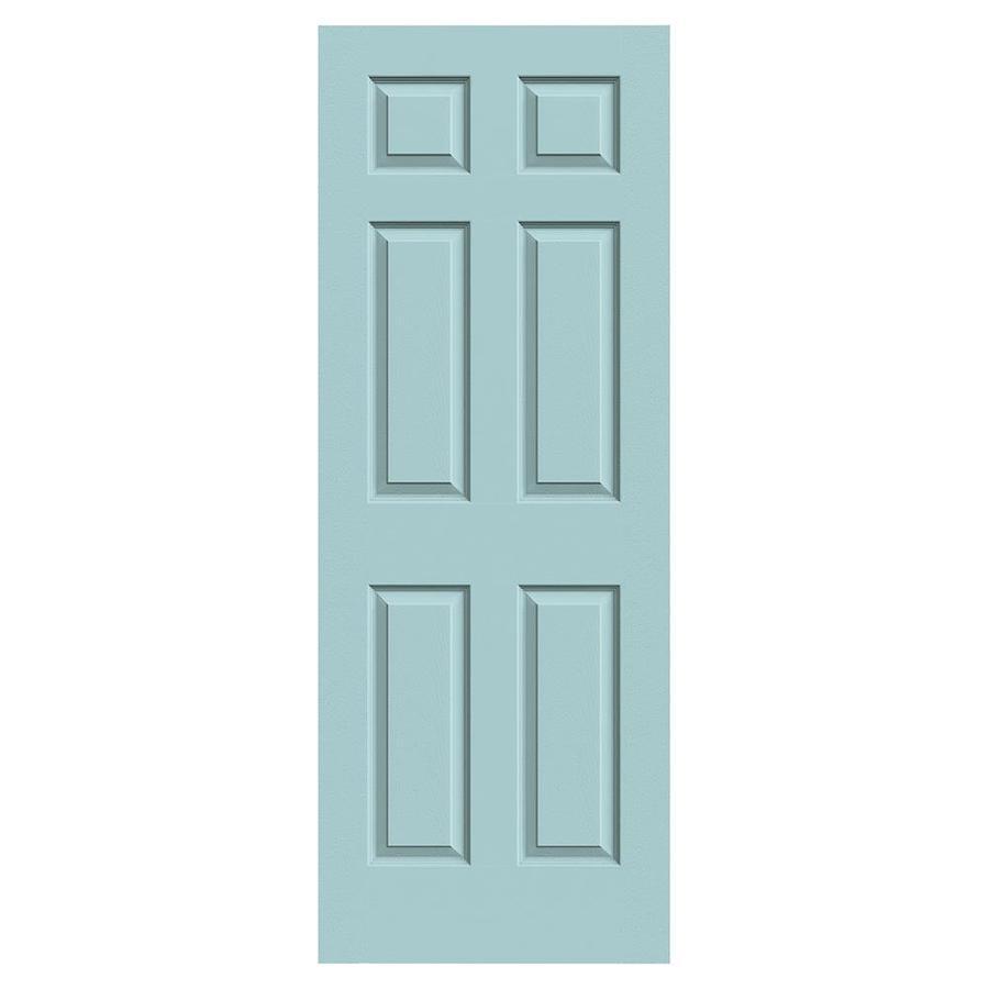 JELD-WEN Sea Mist Solid Core 6-Panel Slab Interior Door (Common: 28-in x 80-in; Actual: 28-in x 80-in)