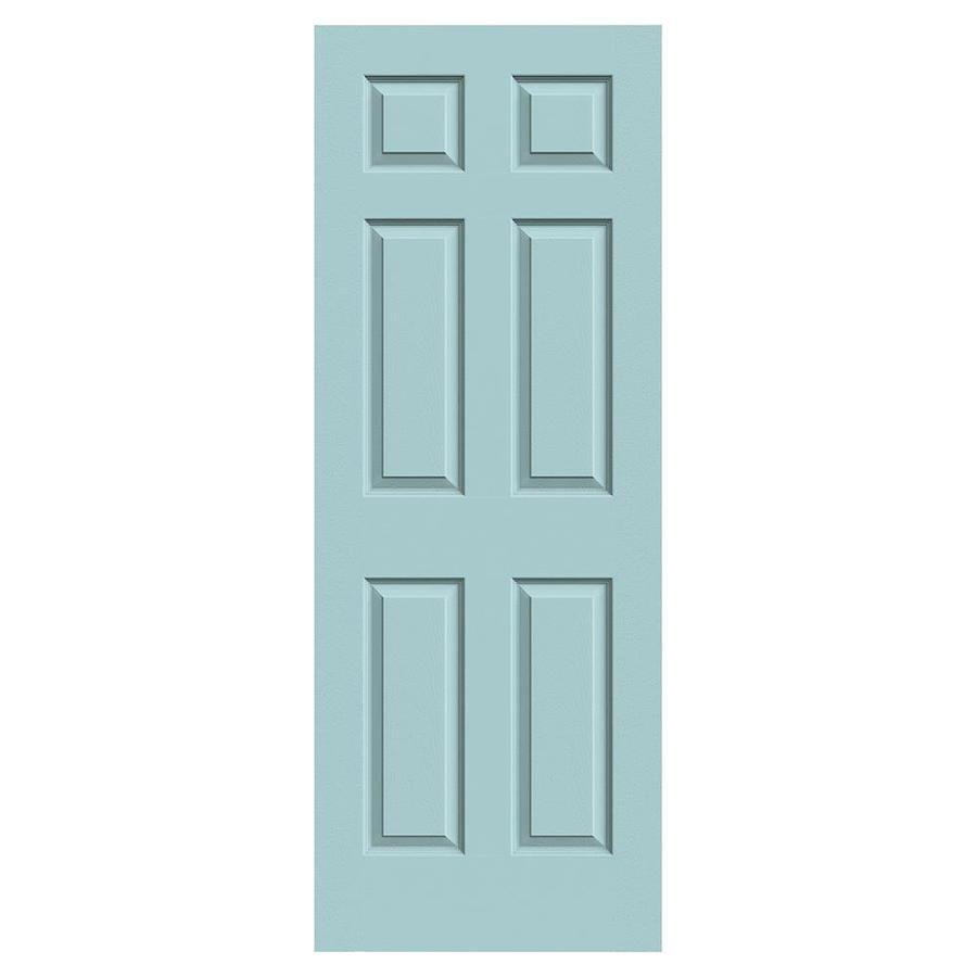 JELD-WEN Sea Mist Solid Core 6-Panel Slab Interior Door (Common: 32-in x 80-in; Actual: 32-in x 80-in)