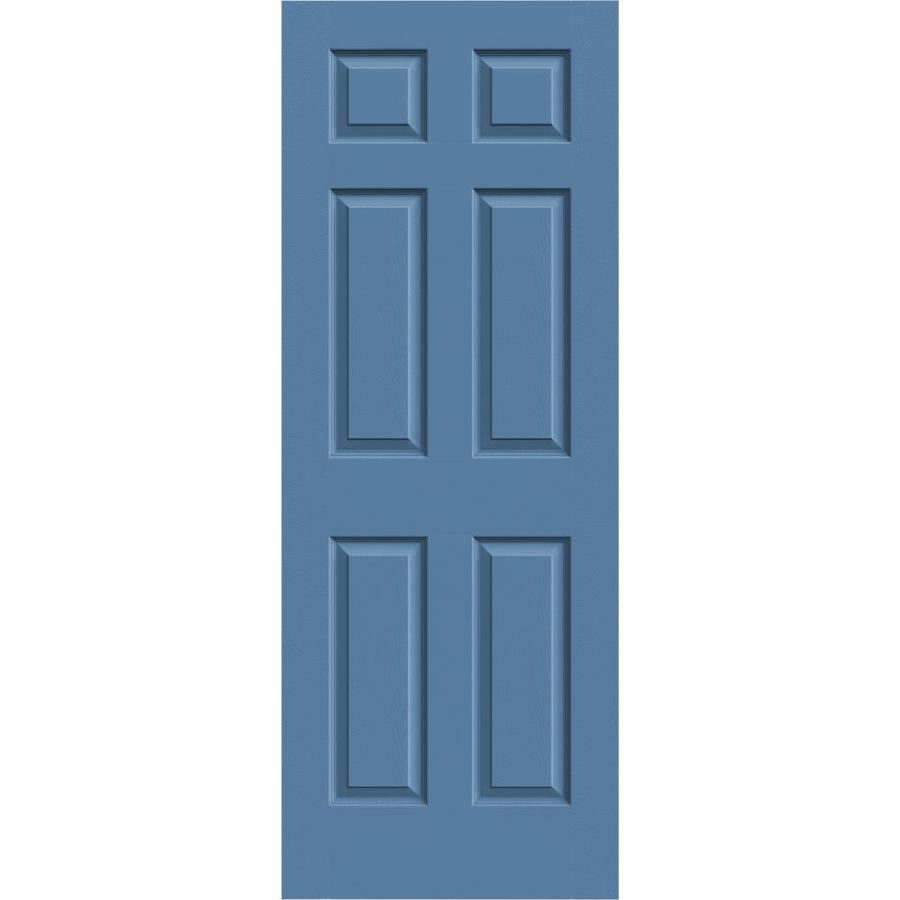JELD-WEN Colonist Blue Heron Solid Core Molded Composite Slab Interior Door (Common: 24-in x 80-in; Actual: 24-in x 80-in)