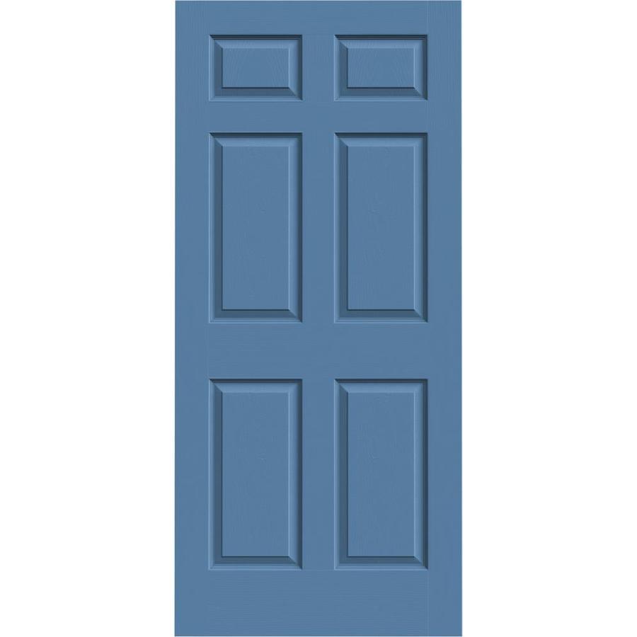JELD-WEN Colonist Blue Heron Solid Core Molded Composite Slab Interior Door (Common: 36-in x 80-in; Actual: 36-in x 80-in)