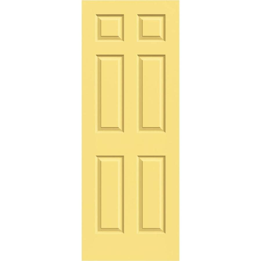 JELD-WEN Colonist Marigold Solid Core 6-Panel Slab Interior Door (Common: 24-in x 80-in; Actual: 24-in x 80-in)