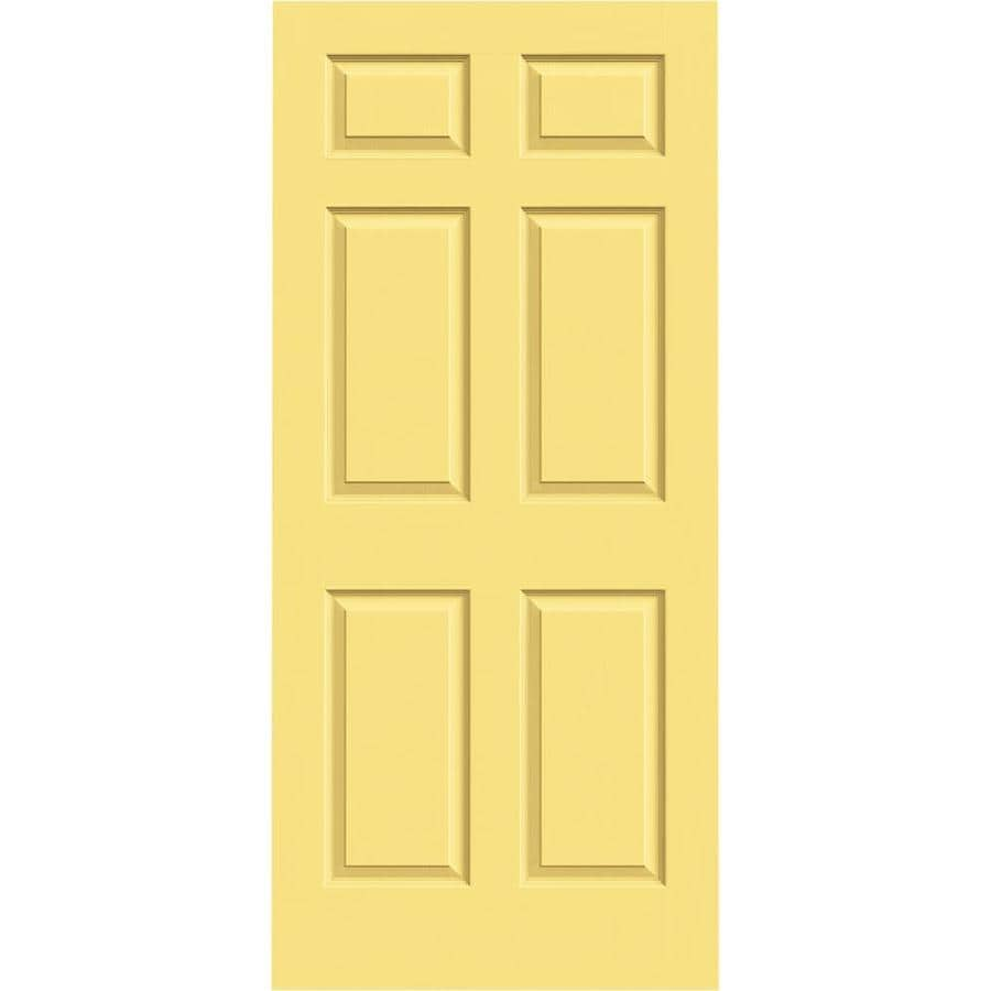 JELD-WEN Marigold Solid Core 6-Panel Slab Interior Door (Common: 36-in x 80-in; Actual: 36-in x 80-in)