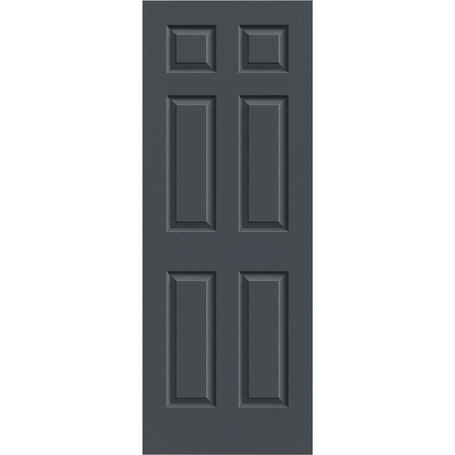 JELD-WEN Slate Solid Core 6-Panel Slab Interior Door (Common: 28-in x 80-in; Actual: 28-in x 80-in)