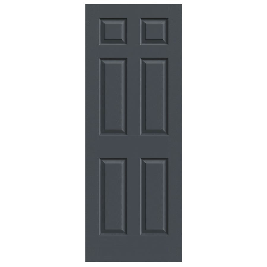 JELD-WEN Slate Solid Core 6-Panel Slab Interior Door (Common: 30-in x 80-in; Actual: 30-in x 80-in)