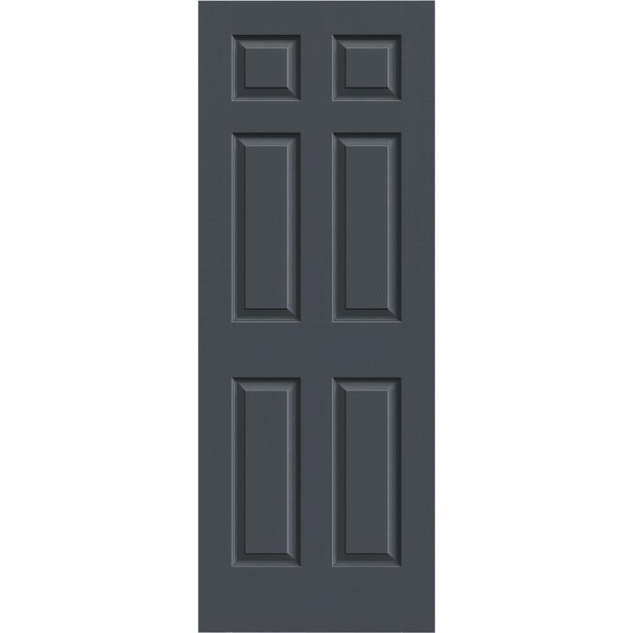 JELD-WEN Slate Solid Core 6-Panel Slab Interior Door (Common: 32-in x 80-in; Actual: 32-in x 80-in)
