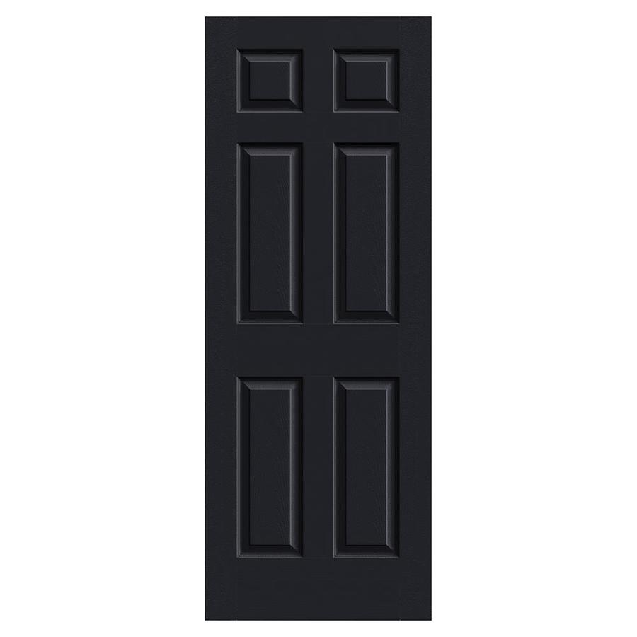 JELD-WEN Midnight Solid Core 6-Panel Slab Interior Door (Common: 28-in x 80-in; Actual: 28-in x 80-in)